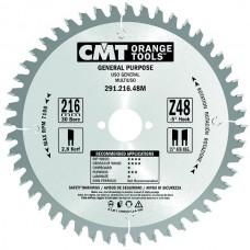 Пила дискова 216х30х48 1,8/2,8 для поперечного пиления древесины отриц.угол -5°