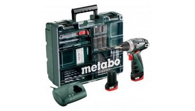 Акумуляторний дриль-шурупокрут METABO PowerMaxx BS Basic Mobile Workshop, 10.8V