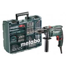 Дриль ударний METABO SBE 650, набір приладдя, швидкозатискний патрон