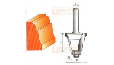 Фреза ГЛОБУС 2201 d12 R6 кромочна фігурна з нижнім підшипником