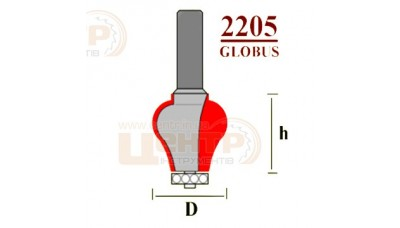 Фреза ГЛОБУС 2205 D25 кромочна фігурна