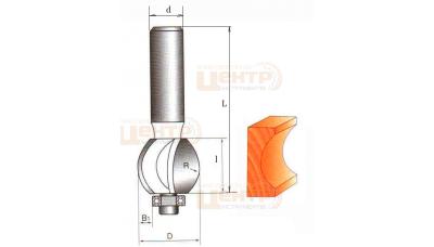 Фреза ГЛОБУС 1015 R8 кромочна галтельна з підшипником