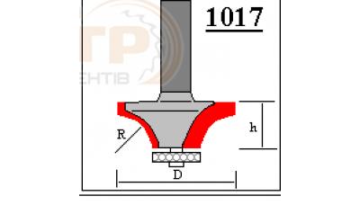 Фреза ГЛОБУС 1017 R20 d12 кромочна кальовочна