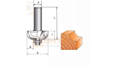 Фреза ГЛОБУС 1018 R6 кромочна кальовочна
