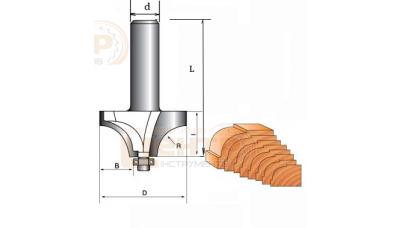 Фреза ГЛОБУС 1019 R8 кромочна кальовочна