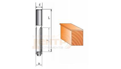 Фреза ГЛОБУС 1020 10х12 кромочна пряма