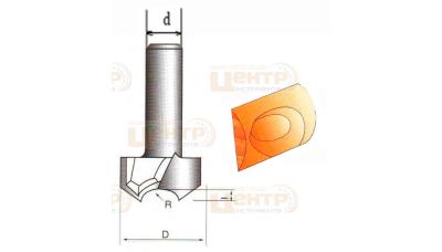 Фреза ГЛОБУС 1026 R12 пазова для виготовлення розеток