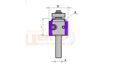 Фреза ГЛОБУС 117 R3 кромочна кальовочна зі змінними ножами