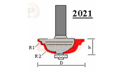 Фреза ГЛОБУС 2021 R3/8 кромочна кальовочна з нижнім підшипником