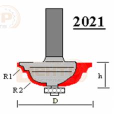Фреза ГЛОБУС 2021 R4/10 кромочна кальовочна з нижнім підшипником
