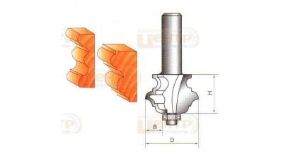 Фреза ГЛОБУС 2040 D38 кромочна фігурна мультипрофільна