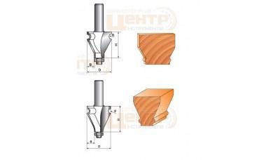 Фреза ГЛОБУС 2207 D35 d 12 кромочна фігурна з нижнім підшипником