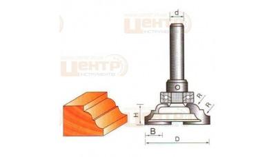 Фреза ГЛОБУС 2301 R6 кромочна кальовочна з верхнім підшипником